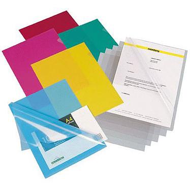 Elba 100 pochettes-coin A4 15/100ème PVC transparentes