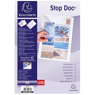 Exacompta pochettes coin Stop Doc Cristal x 100 pas cher