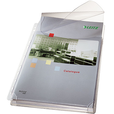 Leitz 5 pochettes à soufflet avec rabat A4 incolore Lot de 5 pochettes à soufflet avec rabat 11 trous format A4