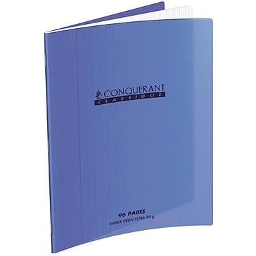 Conquérant Cahier 96 pages 240 x 320 mm seyes grands carreaux  Violet