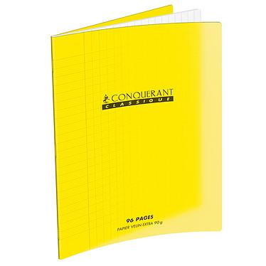 Conquérant Cahier 96 pages 240 x 320 mm seyes grands carreaux Jaune
