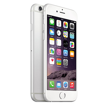 "Apple iPhone 6 64 Go Argent · Reconditionné Smartphone 4G-LTE - Apple A8 Dual-Core 1.4 GHz - RAM 1 Go - Ecran Retina 4.7"" 750 x 1334 - 64 Go - NFC/Bluetooth 4 - 1810 mAh - iOS 8"