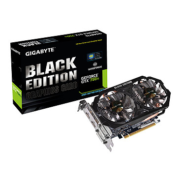 Gigabyte GV-N75TWF2BK-2GI - GeForce GTX 750 Ti 2 Go Black Edition