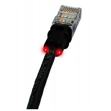 PatchSee câble RJ45 catégorie 5e U/UTP (1.2 mètre) Cordon ethernet avec système de repérage lumineux