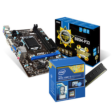 Kit Upgrade PC Core i3 MSI B85M-P33 4 Go