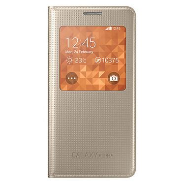 Samsung S-View Or Samsung Galaxy Alpha Etui folio pour Samsung Galaxy Alpha
