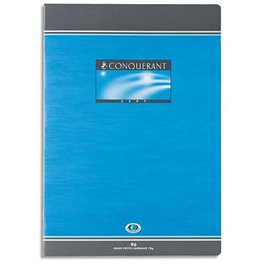 Conquérant Sept Cahier brochure 96 pages 24 x 32 cm petits carreaux coloris aléatoires