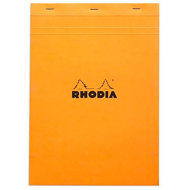 Rhodia Bloc N°18 agrafé en-tête 21 x 29.7 cm quadrillé 5 x 5 160 pages