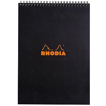 Rhodia Bloc Note Spirale 21 x 29.7 cm quadrillé 5 x 5 160 pages Noir