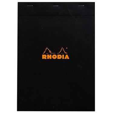 Rhodia Bloc N°18 agrafé en-tête 21 x 29.7 cm quadrillé 5 x 5 160 pages Noir