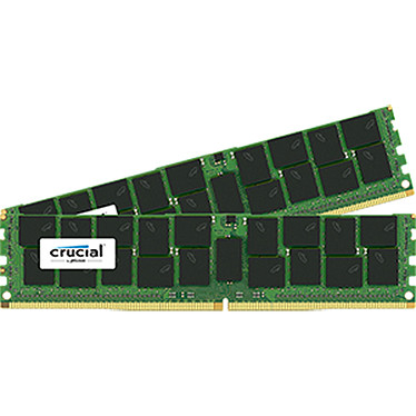 Crucial DDR4 128 Go (2 x 64 Go) 2400 MHz CL17 ECC QR X4 LR Kit Dual Channel RAM DDR4 PC4-19200 - CT2K64G4LFQ424A (garantie 10 ans par Crucial)