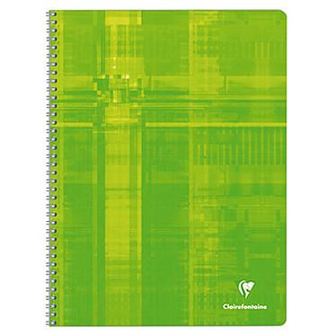 Avis Clairefontaine Cahier Metric Spirale 180 pages 24 x 32 cm grands carreaux Seyès coloris aléatoires