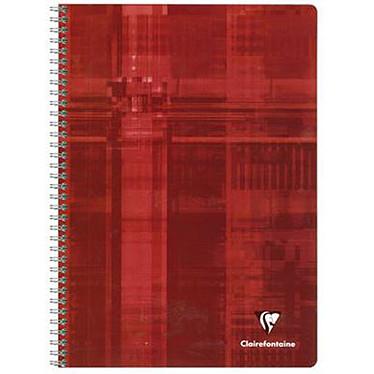 Clairefontaine Cahier Metric Spirale 180 pages 21 x 29.7 cm grands carreaux Seyès coloris aléatoires