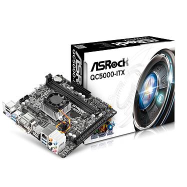 ASRock QC5000-ITX Carte mère Mini ITX avec processeur APU AMD A4-5000 AMD Radeon HD8330 -SATA 6 Gb/s - USB 3.0 -  PCI-Express 2.0 16x