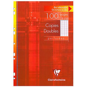 Clairefontaine Copies doubles perforées 100 pages 21 x 29.7 cm grands carreaux Seyes