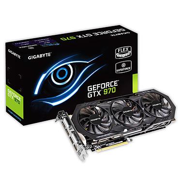 Gigabyte GV-N970WF3OC-4GD - GeForce GTX 970 4 GB 4096 Mo Dual DVI/HDMI/Tri DisplayPort - PCI Express (NVIDIA GeForce avec CUDA GTX 970)