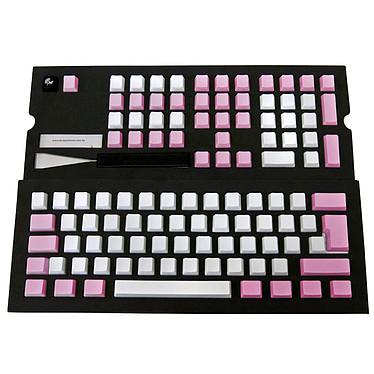 Ducky Channel Keycap Set (blanc / rose) Lot de 109 touches de remplacement non-marquées pour clavier mécanique à switches Cherry MX