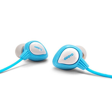 Odoyo Waterproof Wired Sport Headset AQ Bleu Casque-micro intra-auriculaire waterproof pour sportifs