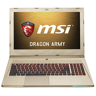 "MSI GS60 2QE-041FR Ghost Pro Gold (Edition limitée) Intel Core i7-4710HQ 16 Go SSD 128 Go + HDD 1 To 15.6"" LED NVIDIA GeForce GTX 970M Wi-Fi AC/Bluetooth Webcam Windows 8.1 64 bits (garantie constructeur 1 an)"