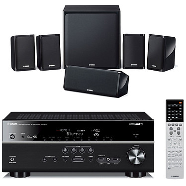 Yamaha RX-V677 Noir + Yamaha NS-P40 Ampli-tuner Home Cinéma 7.2 DLNA 3D-Ready avec HDMI 1.4 décodeurs HD MHL et Airplay +  Pack d'enceintes 5.1