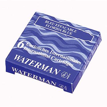 Waterman étui de 6 cartouches courtes effaçables bleues