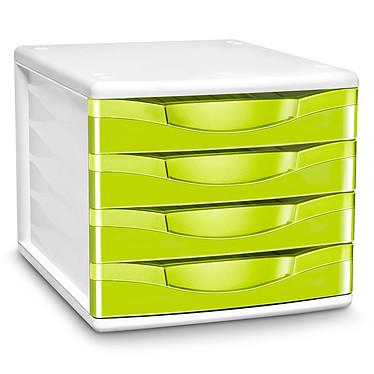 CEP Module de classement 4 tiroirs Gloss Anis 894G Bloc de classement 4 tiroirs fermés 24 x32 cm coloris Anis