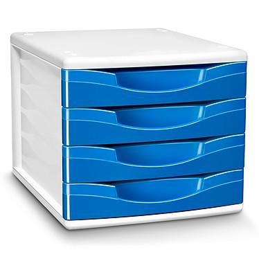 CEP Module de classement 4 tiroirs Gloss Bleu Océan 894G Bloc de classement 4 tiroirs fermés 24 x32 cm coloris Bleu