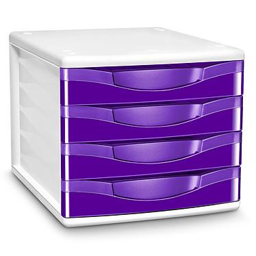 CEP Module de classement 4 tiroirs Gloss Violet 894G