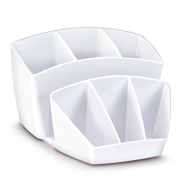 CEP Gloss Multipot 8 compartiments Blanc Arctique