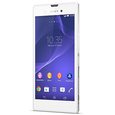 """Sony Xperia T3 Blanc Smartphone 4G-LTE avec écran tactile HD TRILUMINOS 5.3"""" sous Android 4.4"""