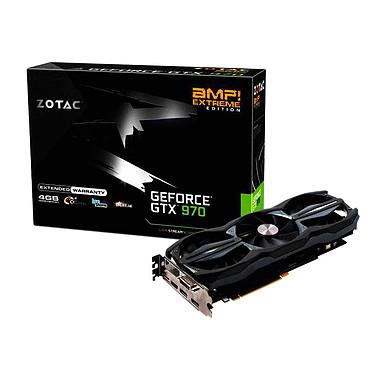 ZOTAC GeForce GTX 970 AMP! Extreme Edition 4 GB 4096 Mo DVI/HDMI/Tri DisplayPort - PCI Express (NVIDIA GeForce avec CUDA GTX 970)