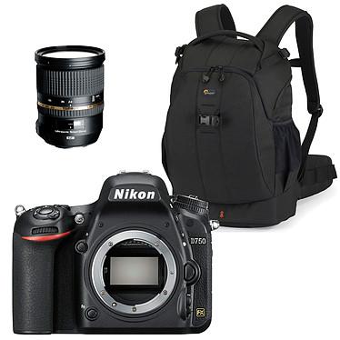 """Nikon D750 + Tamron SP 24-70 mm F/2,8 Di VC USD + Lowepro Flipside 400 AW Réflex Numérique 24.3 MP - Ecran inclinable 3.2"""" - Vidéo Full HD 1080p - Wi-Fi + Objectif + Sac à dos"""
