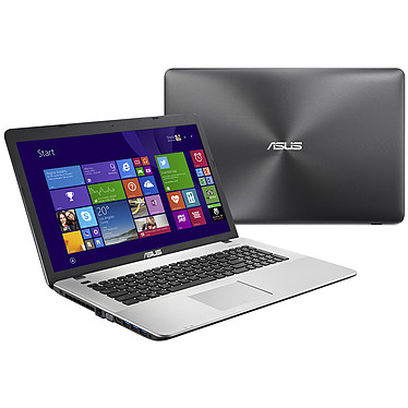 """ASUS R752LX-T4041H Intel Core i7-5500U 8 Go 1 To 17.3"""" LED Full HD NVIDIA GeForce GTX 950M Graveur DVD Wi-Fi N/Bluetooth Webcam Windows 8.1 64 bits (Garantie constructeur 1 an)"""