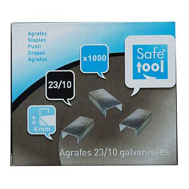 Safetool boite de 1000 agrafes 23/10 galvanisées
