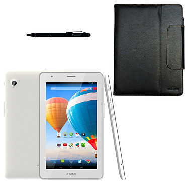 "Archos 70 Xenon 4 Go + Bluestork Universal Folio Pack 7"" Tablette Internet 3G+ - ARM Cortex A7 512 Mo 4 Go 7.85"" LED tactile Wi-Fi/Bluetooth/Webcam Android 4.2 + Étui-support pour tablette 7"" + stylo-stylet"