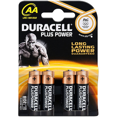 Duracell Plus Power AA (par 4) Pack de 4 piles alcalines AA (LR6) 1.5V