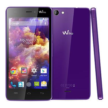 "Wiko Highway Signs Violet Smartphone 3G+ Dual SIM - ARM Cortex-A7 8-Core 1.4 GHz - RAM 1 Go - Ecran tactile 4.7"" 720 x 1280 - 8 Go - Bluetooth 4.0 - 2000 mAh - Android 4.4"