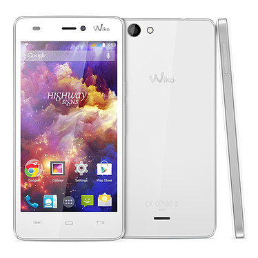 """Wiko Highway Signs Blanc Smartphone 3G+ Dual SIM  avec écran tactile HD 4.7"""" sous Android 4.4"""