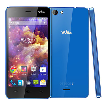 """Wiko Highway Signs Blue Electric Smartphone 3G+ Dual SIM avec écran tactile HD 4.7"""" sous Android 4.4"""