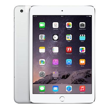 "Apple iPad mini 3 avec écran Retina Wi-Fi + Cellular 16 Go Argent Tablette Internet 4G-LTE - Apple A7 1.3 GHz 1 Go 16 Go 7.9"" LED tactile Wi-Fi N/Bluetooth Webcam iOS 8"