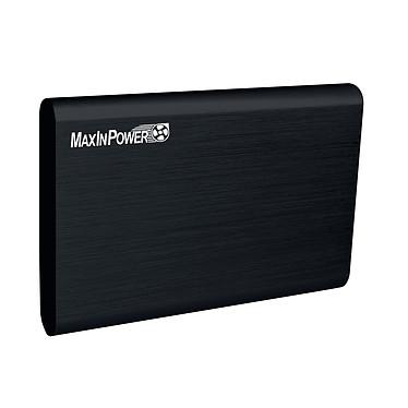 MaxInPower boitier externe USB 3.0 en aluminium brossé pour disque dur 2.5'' SATA III (coloris noir)
