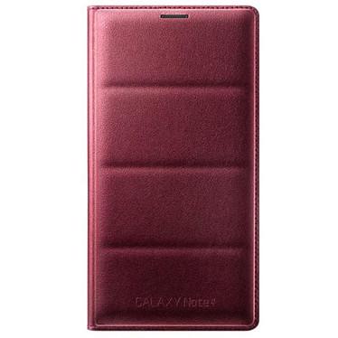 Samsung Flip Wallet Rouge Samsung Galaxy Note 4 Etui portefeuille pour Samsung Galaxy Note 4