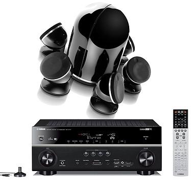 Yamaha RX-V777 Noir + Focal Dôme Pack 5.1 Diamond Black Ampli-tuner Home Cinéma 7.2 Wi-Fi DLNA 3D-Ready avec HDMI 2.0 4K Ultra HD MHL et Airplay + Enceintes 5.1