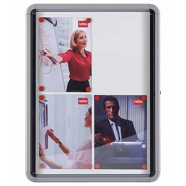 Nobo vitrine d`intérieur fond magnétique 9xA4 Vitrine d'intérieur Nobo fond magnétique blanc 9xA4 porte battante