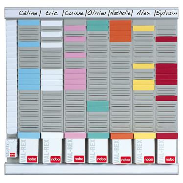 Nobo kit office planner 8 colonnes 24 fentes kit planning annuel