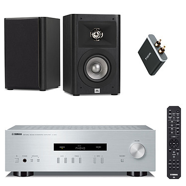 Yamaha A-S201 Silver + JBL Studio 220 Noir + Focal Universal Wireless Receiver Amplificateur stéréo intégré 2 x 100 W + Enceinte bibliothèque 2 voies 10 cm (par paire) + Récepteur Bluetooth