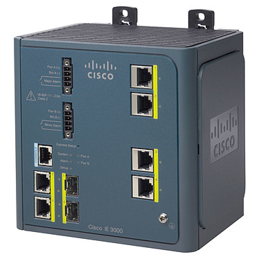 Cisco IE3000-4TC Switch industriel 4 ports 10/100Mbps + 2 ports gigabit 10/100/1000Mbps  + SFP
