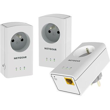 Netgear XAVT5421 Pack de 3 adaptateurs CPL 500 Ethernet 500 Mbits/s avec prise filtrée et 1 port Ethernet