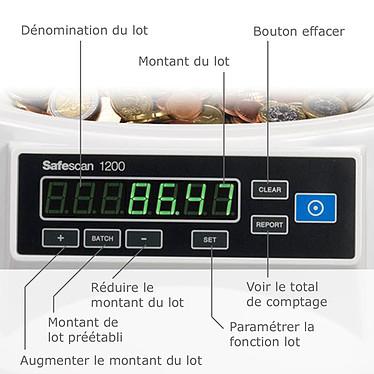 Acheter Safescan 1200 EUR Compteuse trieuse de pièces Euro