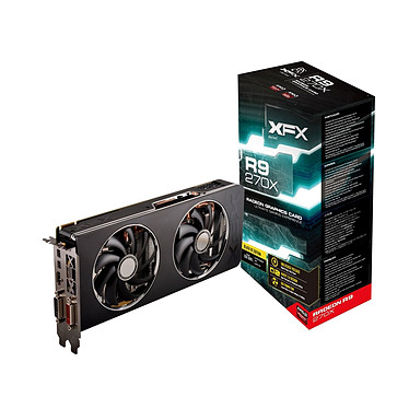 XFX Radeon R9 270X R9-270X-CDBC Black Double Dissipation Edition 2 Go Dual DVI/HDMI/Dual Mini-DisplayPort - PCI Express (AMD Radeon R9 270X)